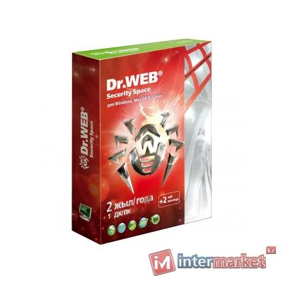 Антивирус Dr.Web Security Space 1 год 2 ПК BOX