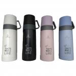 Термос питьевой 330мл 2х чашки (4цв) (YN082)